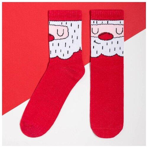 Носки Kaftan Санта 7070279, размер 23-25 см (37-39), красный