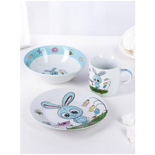 Детский набор посуды, Крош, кружка, тарелка, миска