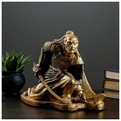 Фигура Самурай бронза-серебро 32х20х25см 2627255 фигура игуана 23х46х27см бронза серебро