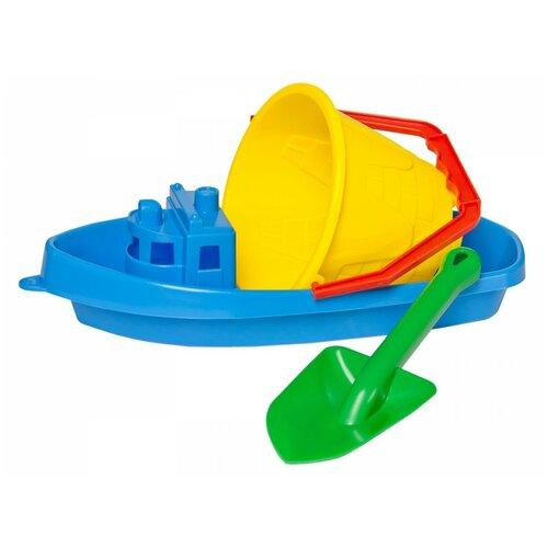 Набор для песочницы игрушки для песочницы технок (лопатка детская, ведерко для песочницы, кораблик)