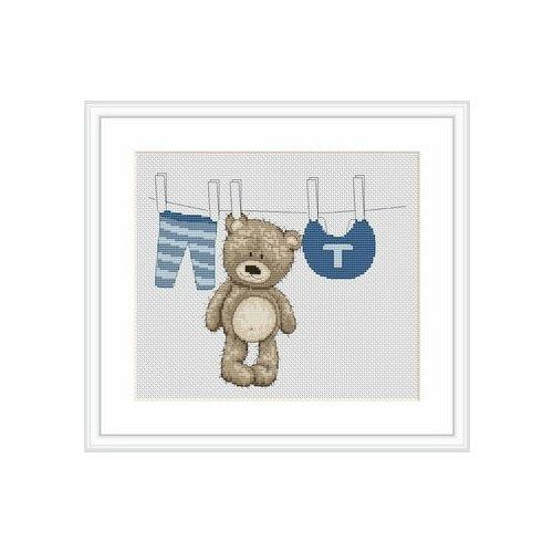 Фото - Набор для вышивания Медвежонок Бруно , Luca-S 18,50 x 15,50 см ( B1026 ) набор для вышивания улитка luca s 9 5 x 5 см b005