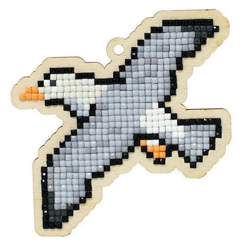 Купить Алмазная мозаика на дереве Подвеска «Чайка», 8, 7x9 см, Гранни Wood