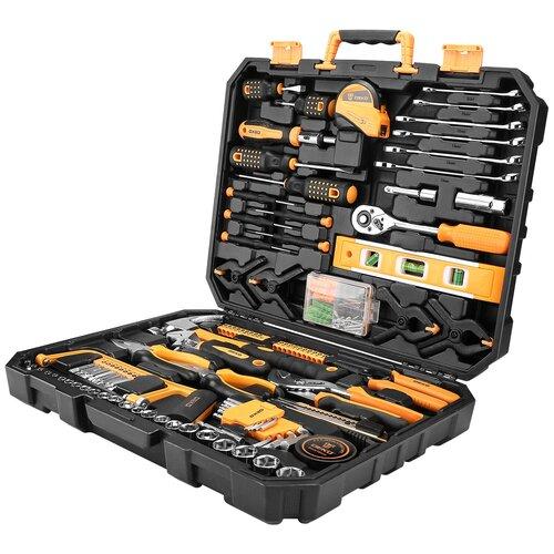 Фото - Набор инструментов DEKO DKMT168, 168 предм., черный/оранжевый набор инструментов deko tz82 82 предм черный желтый