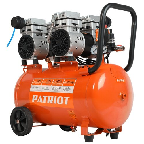 Фото - Компрессор безмасляный PATRIOT WO 50-300, 50 л, 2 кВт компрессор безмасляный hyundai hyc 3050s 50 л 2 квт