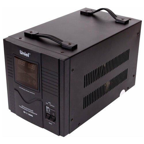 Стабилизатор напряжения однофазный Uniel RS-1/10000 черный