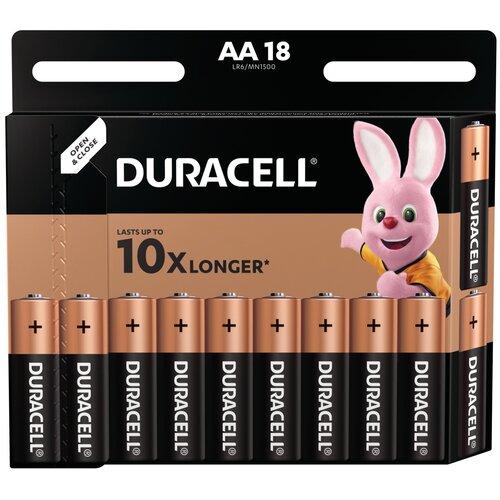 Фото - Батарейка Duracell Basic AA, 18 шт. батарейка energizer max plus aa 4 шт