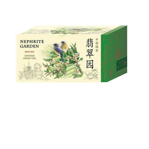 Чай зеленый Green Panda Нефритовый сад в пакетиках, 25 шт., 1 уп.