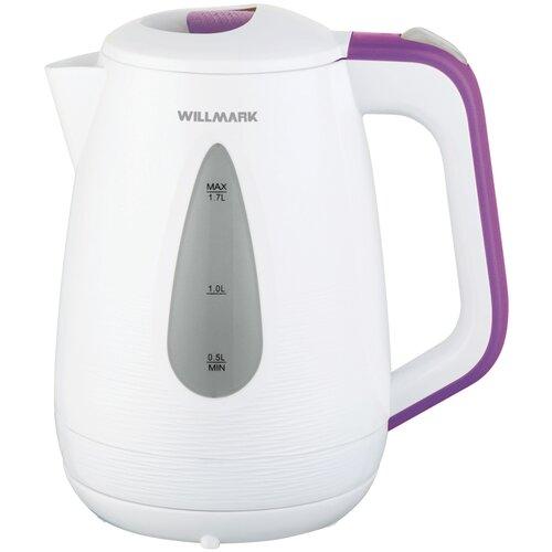 Чайник Willmark WEK-1807P, белый/фиолетовый чайник willmark wek 2009p белый фиолетовый