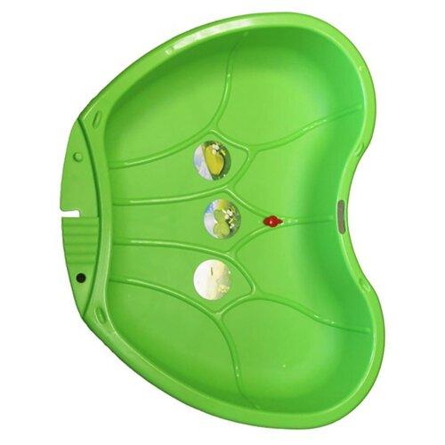 Купить Песочница-бассейн Пластик Крыло бабочки 1 секция ПЛ-С179, 112х88 см, зелeный, Песочницы