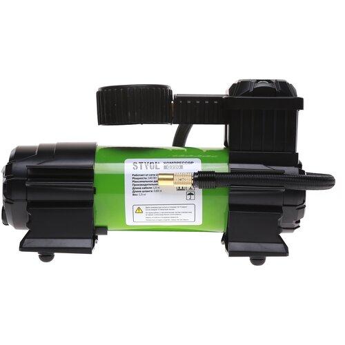 Компрессор автомобильный STVOL Q220, металлический, 35 л/мин, 220В, 7А, с сумкой