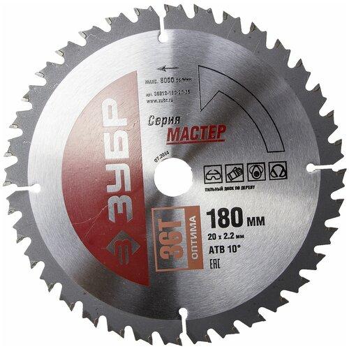 Фото - Пильный диск ЗУБР Мастер 36912-180-20-36 180х20 мм пильный диск зубр эксперт 36901 180 20 24 180х20 мм