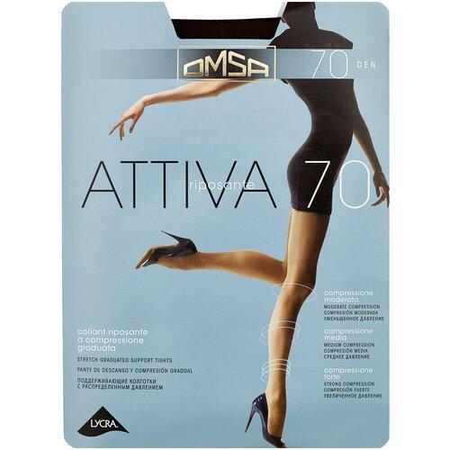 Колготки Omsa Attiva, 70 den, размер 2-S, marrone (коричневый) колготки omsa attiva 20 den размер 2 s marrone коричневый