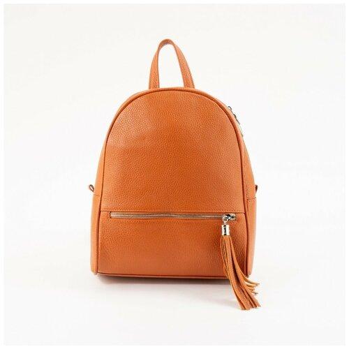 Кожаный рюкзак Protege 348 рыжий флотер