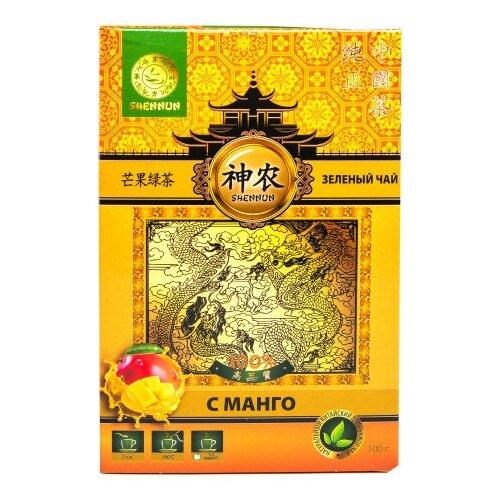 Чай зеленый Shennun с манго, 100 г