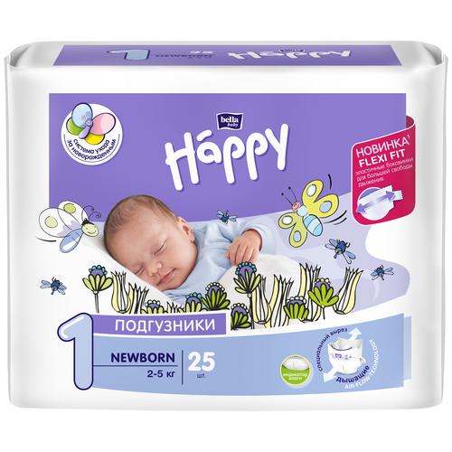 Bella Baby happy подгузники newborn 1 (2-5 кг), 25 шт.