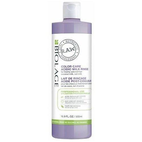 Biolage R.A.W. Color Care Acidic Milk Rinse Молочко - лосьон для стабилизации уровня pH после услуги окрашивания 500 мл