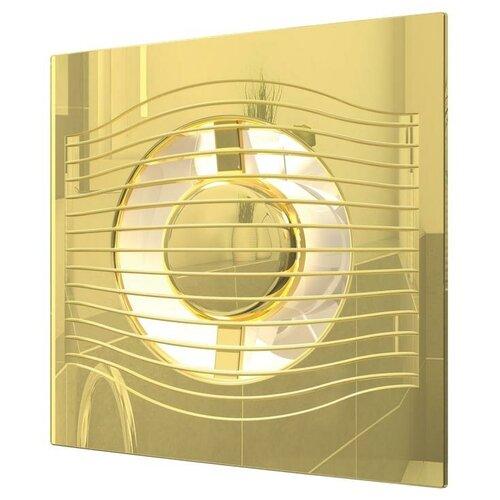 Вытяжной вентилятор DiCiTi SLIM 5C, gold 10 Вт недорого