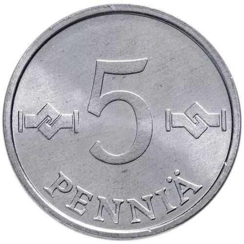Монета Банк Финляндии 5 пенни 1983 года