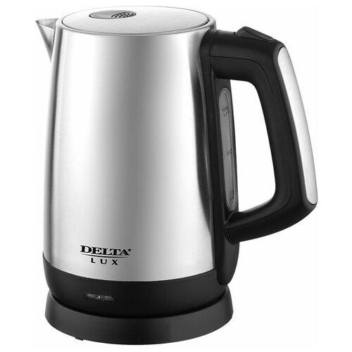 Чайник электрический Delta Lux DL-1207, цвет: черный, 2200 Вт, 1,7 л (+подарок) чайник delta lux dl 1204b 1 7l black