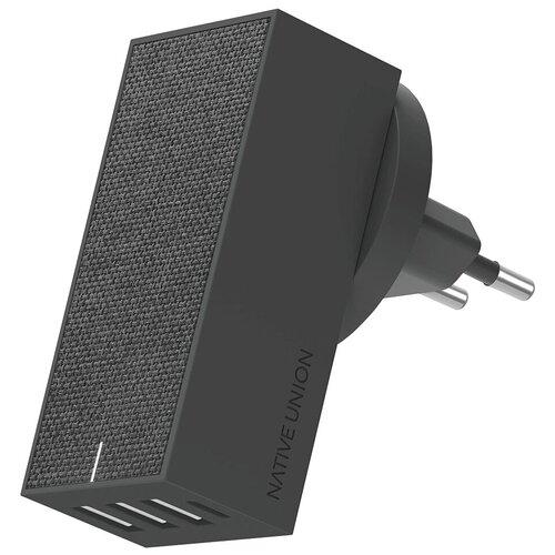 Фото - Сетевая зарядка Native Union Smart 4 Charger, slate адаптер сетевой native union smart charger pd 45вт серый
