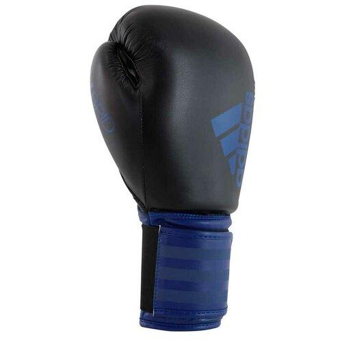 Боксерские перчатки adidas Hybrid 100 черный/синий 12 oz