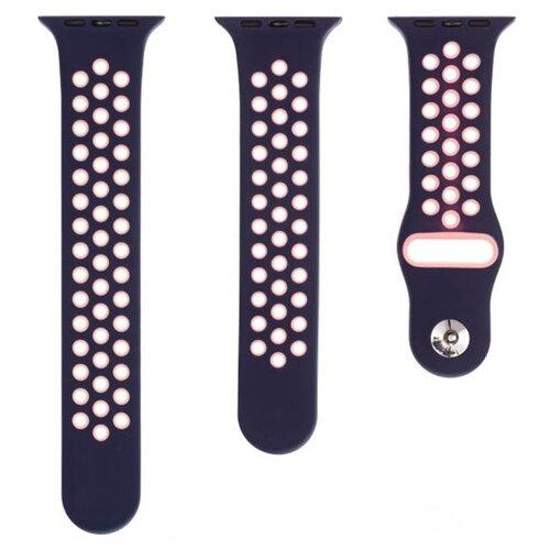 Аксессуар Ремешок Evolution для APPLE Watch 38/40mm Sport+ AW40-SP01 Silicone Midnight-Pink 36802