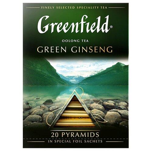 Чай улун Greenfield Green Ginseng в пирамидках, 20 шт. чай черный greenfield sicilian citrus в пирамидках 20 шт