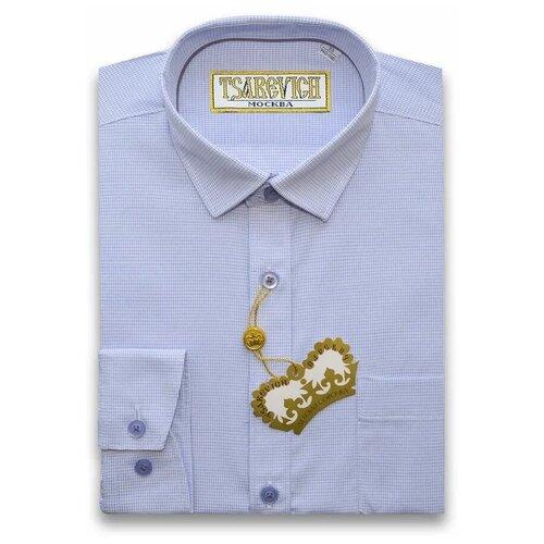 Рубашка Tsarevich размер 34/146-152, голубой