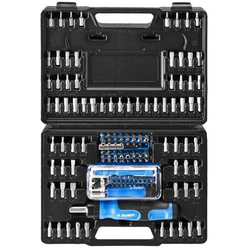 Набор инструментов ЗУБР 25237-H129, 130 предм., черный/синий набор инструментов зубр 25283 h46 z01 46 предм синий