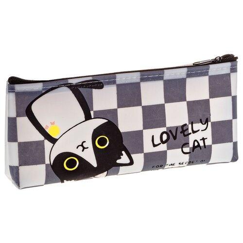 ArtSpace Пенал Lovely cat (Tn_19757), белый/серый недорого