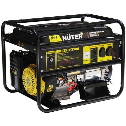 Бензиновый генератор Huter DY6500LX (5000 Вт) бензиновый генератор huter dy6500lx 5000 вт