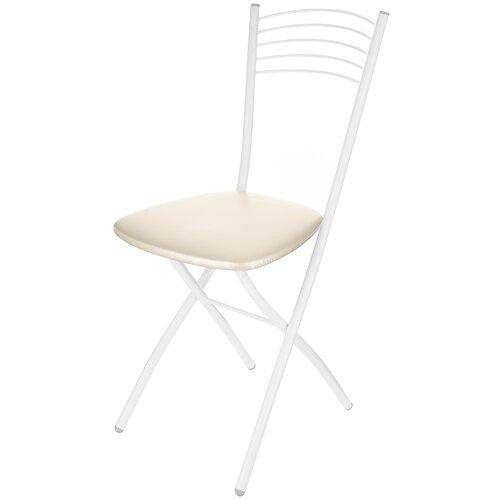 Стул KETT-UP Zefir Kitchen, металл/искусственная кожа, цвет: белый/жемчуг стул kett up picnic eco дерево цвет беленый