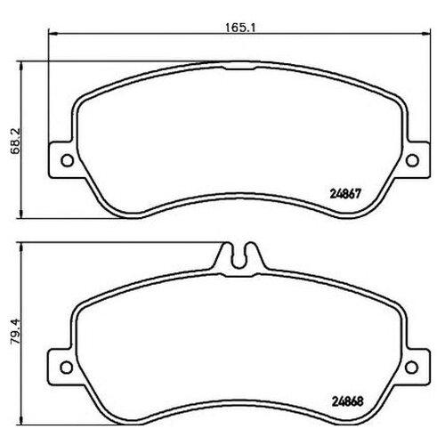 Комплект тормозных колодок Hella 8DB 355 014-221 для Mercedes GLK-CLASS X204