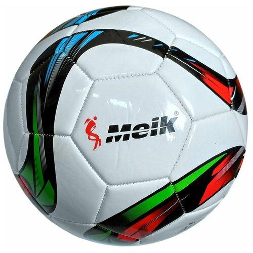 R18031-1 Мяч футбольный Meik-069 4-слоя TPU+PVC 3.0, 400 гр, машинная сшивка