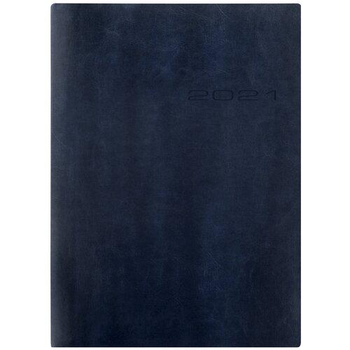 Ежедневник Letts LECASSA A5 искусст. кожа кремовые страницы мягкая обложка синий