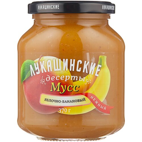 Фото - Мусс Лукашинские яблочно-банановый, банка, 370 г варенье лукашинские черничное банка 450 г