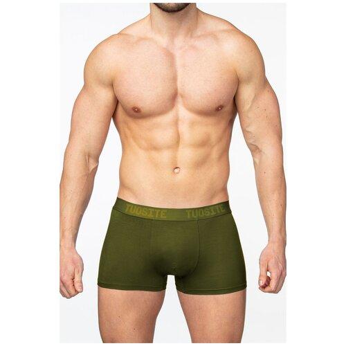 Tuosite Трусы боксеры с классической посадкой, размер XL, зеленый