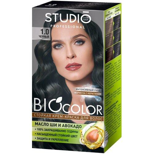 Купить Studio Professional BioColor стойкая крем-краска для волос, 1.0 черный, 115 мл