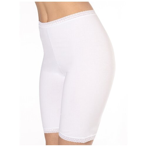 Sisi Трусы панталоны высокой посадки с кружевной отделкой, размер 3XL(54), bianco