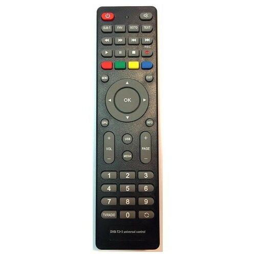 Фото - Пульт Huayu DVB-T2+3 (универсальный) (для телевизионных ресиверов) пульт huayu rc0105 stb 105 для dvb ресиверов bbk