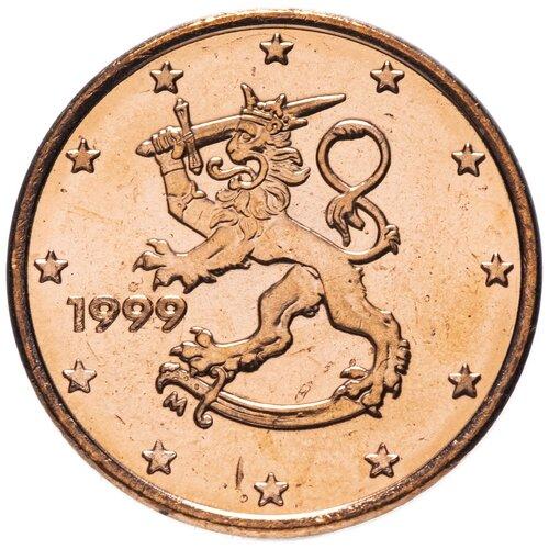 Монета Банк Финляндии 1 евроцент 1999 года