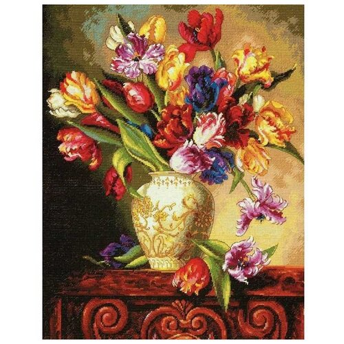 Набор для вышивания «Тюльпаны», 38x30 см, Dimensions