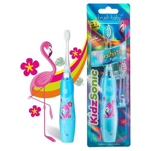 Brush-Baby KidzSonic звуковая зубная щетка Фламинго от 3 лет brush baby kidzsonic звуковая зубная щетка ракета от 3 лет