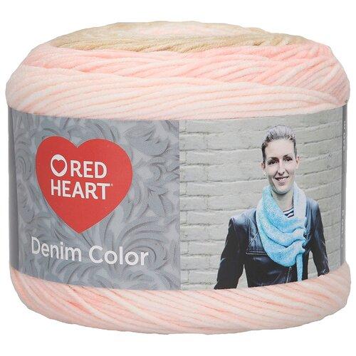 Купить Пряжа для вязания Red Heart 'Denim color' 150гр 340м (100% акрил) (00006 цинния) 3 мотка