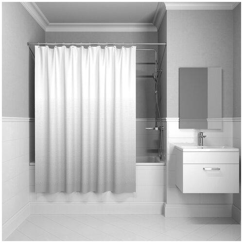 Фото - Штора для ванной IDDIS B65P218i11 180x200 серый штора для ванной iddis 680p18ri11 180x200 зеленый черный