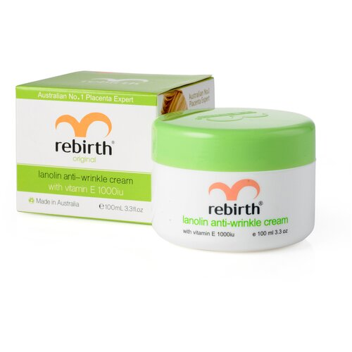 Rebirth Lanolin Anti-Wrinkle Cream with Vitamin E Крем для лица против морщин с Витамином Е и ланолином, 100 мл недорого