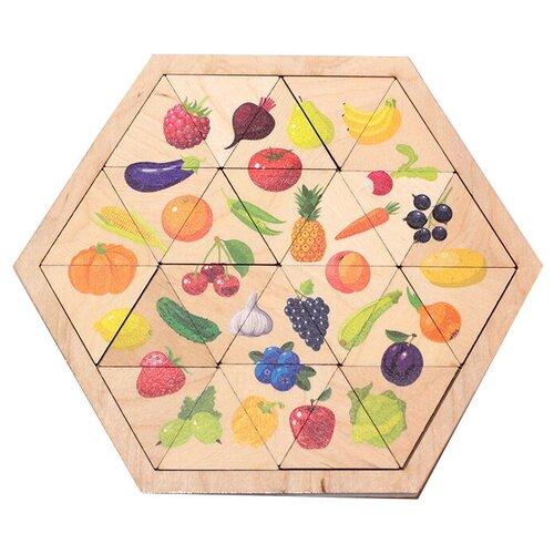 Рамка-вкладыш Десятое королевство Овощи, фрукты, ягоды (00778), 24 дет.