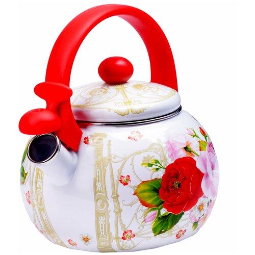 Фото - Чайник эмалированный со свистком MAYER&BOCH 29761 2,2 л чайник эмалированный со свистком 2 5 л metrot таково кухня 115432