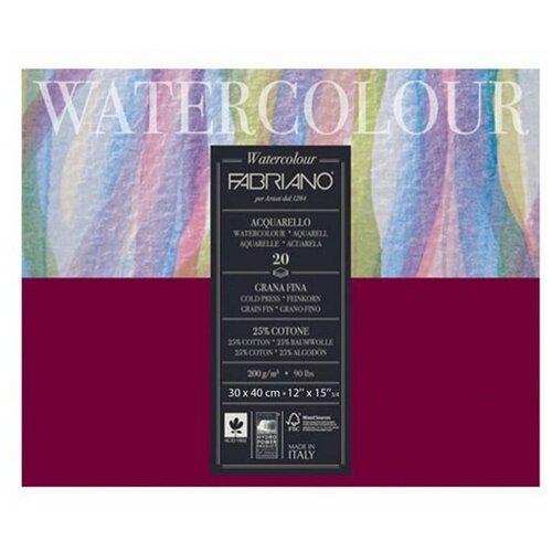Фото - Скетчбук для акварели Fabriano Watercolour 40 х 30 см, 200 г/м², 20 л. альбом для акварели fabriano watercolour 300 г м2 а6 10 5 х 14 8 см склейка с одной стороны 20 л