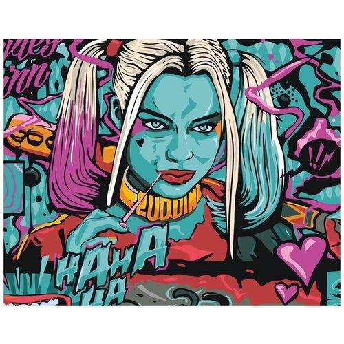 Купить Картина по номерам «Подруга Джокера», 40x50 см, Живопись по Номерам, Живопись по номерам, Картины по номерам и контурам